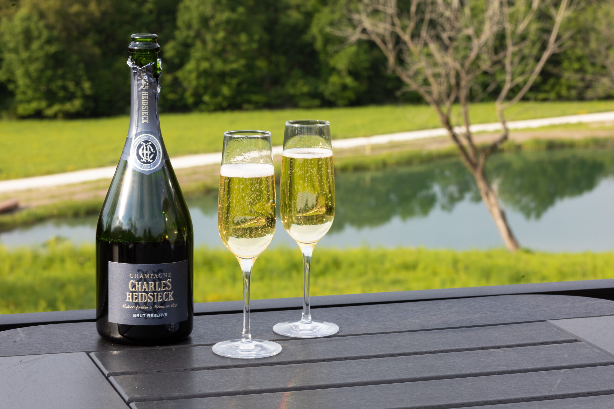 Why You Should Try Luxury Camping | Champagne Welcome Toast